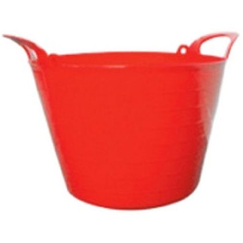 Round Plastic Carry Storage Tubs - Red 3 Sizes